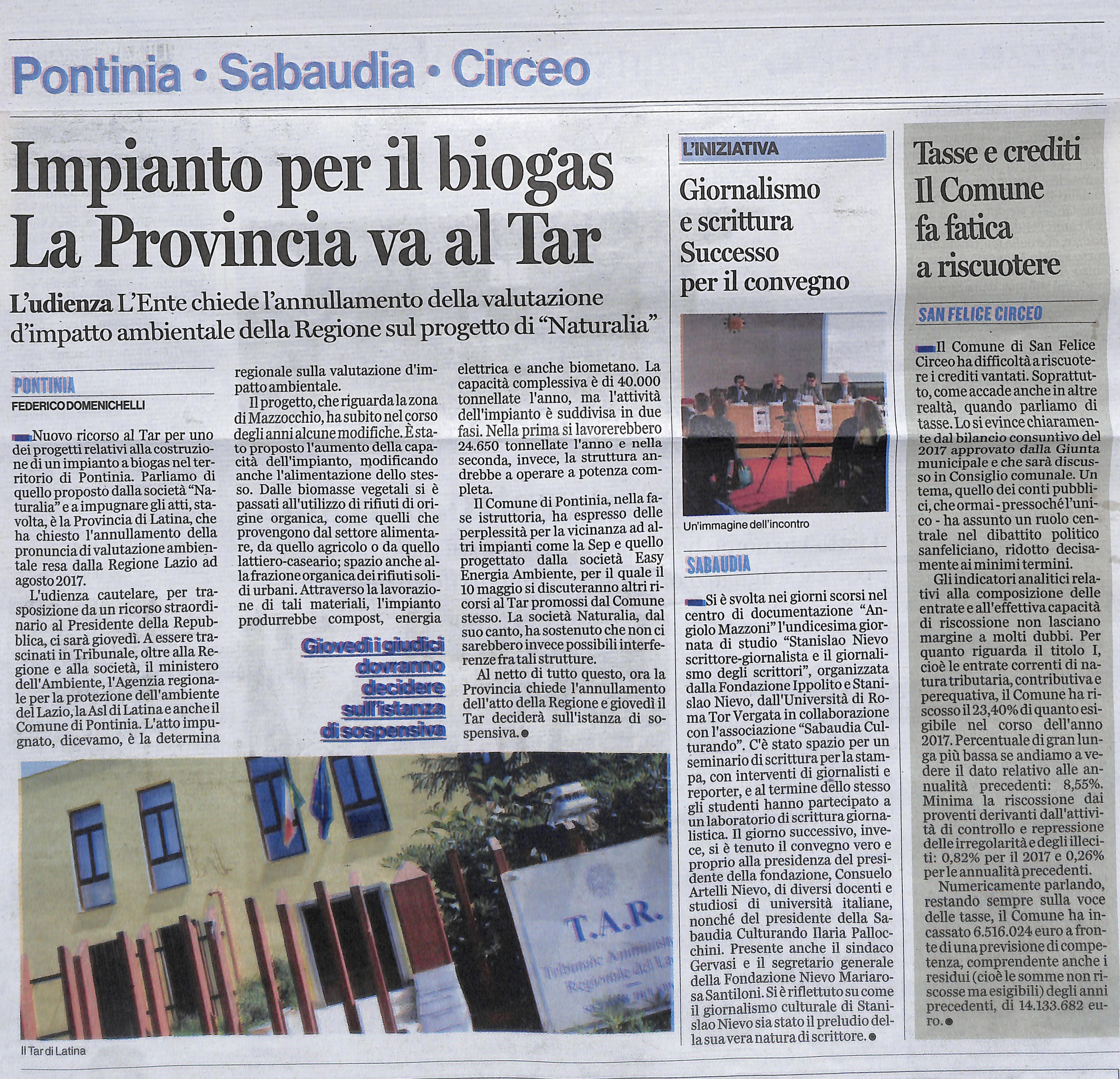 GIORNALISMO E SCRITTURA SUCCESSO PER IL CONVEGNO Latina_Editoriale_oggi 7 maggio 2018